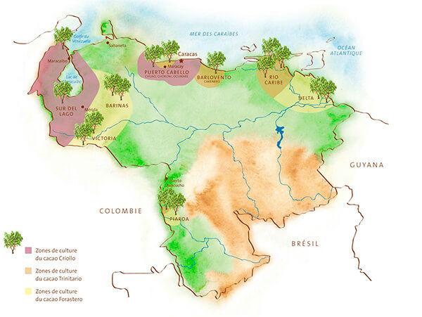 map sur del lago venezuela