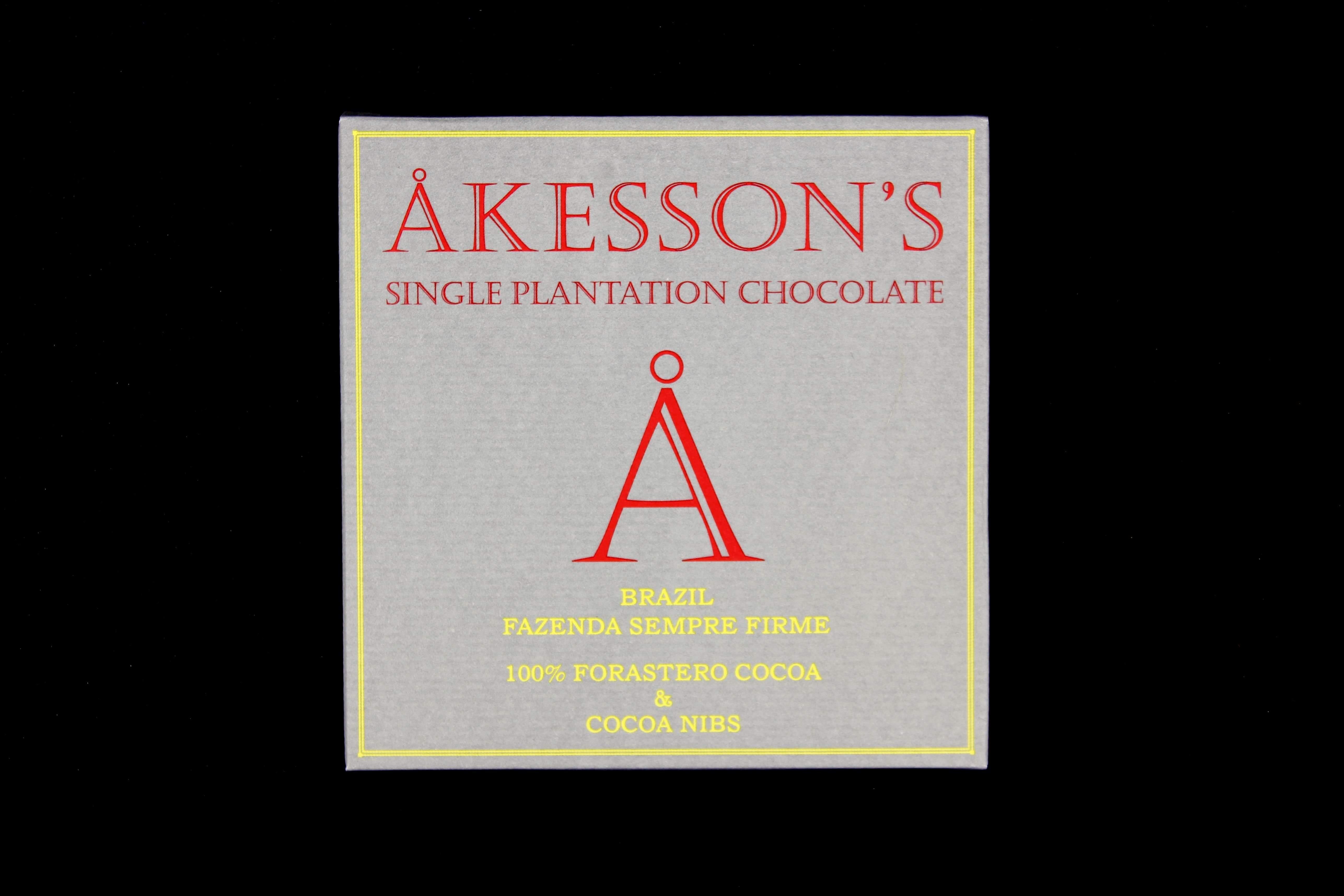 akessons brazil fazenda sempre firme 100 forastero cocoa and cocoa nibs
