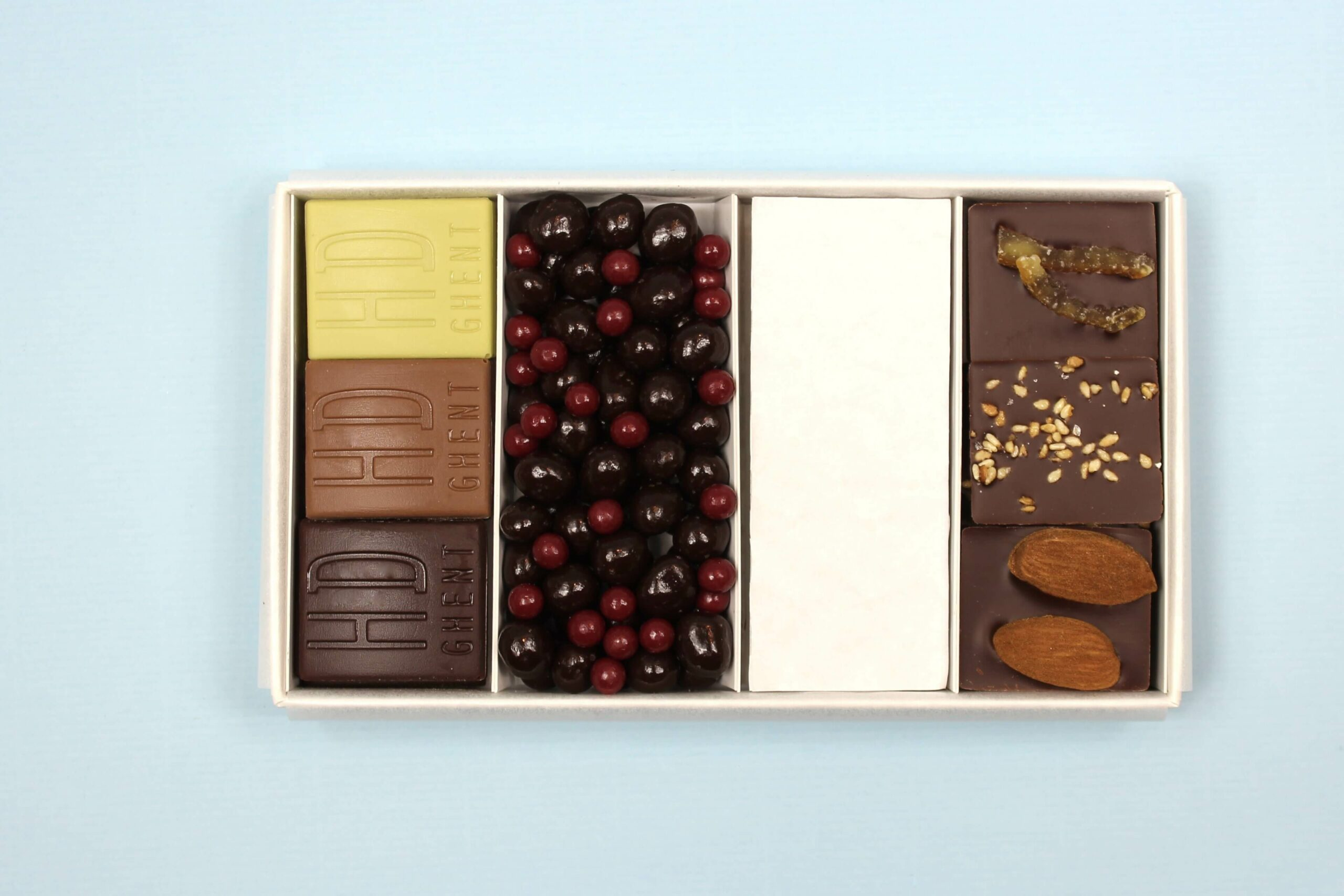 hd ghent by hilde devolder chocolatier degustation box small with white protection