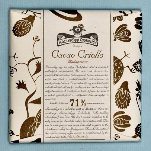 rozsavolgyi csokolade cacao criollo madagascar 71