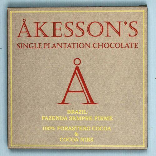 akessons brazil fazenda sempre firme 100 forastero cocoa with cocoa nibs