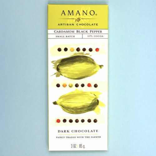 amano artisan chocolate cardemom black pepper 60