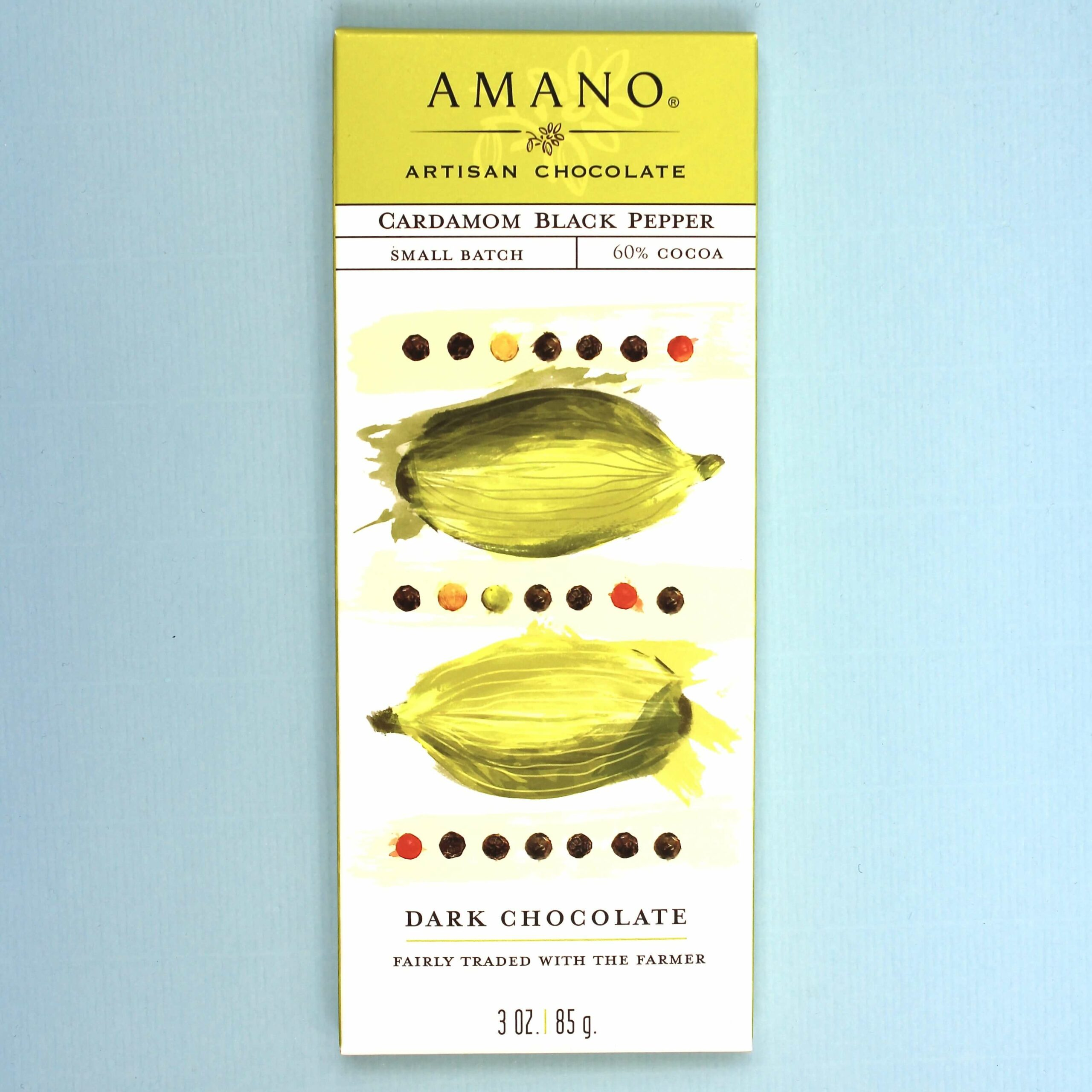 amano artisan chocolate cardemom black pepper 60