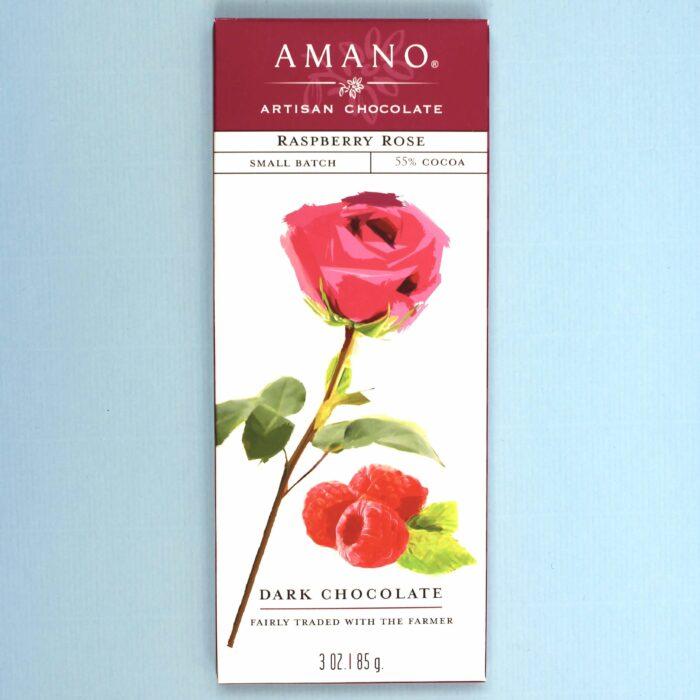 amano artisan chocolate raspberry rose 55