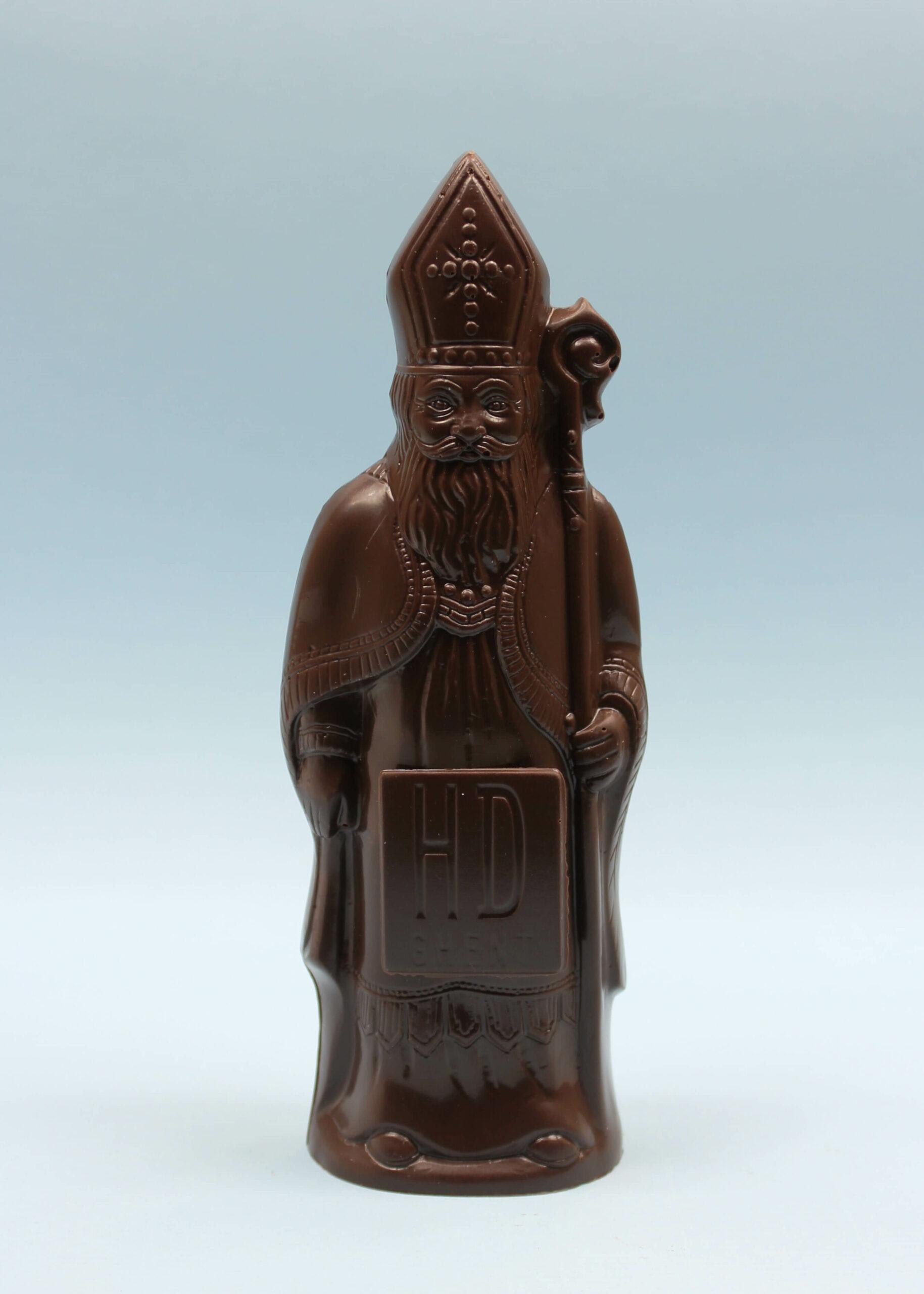 hd ghent by hilde devolder chocolatier sinterklaas donkere chocolade 17 cm