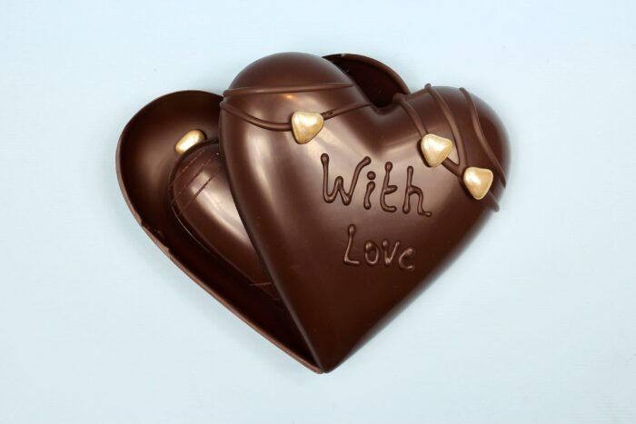 hd ghent matroeska heart dark chocolate valentine 2021 set of tree one and two in tree
