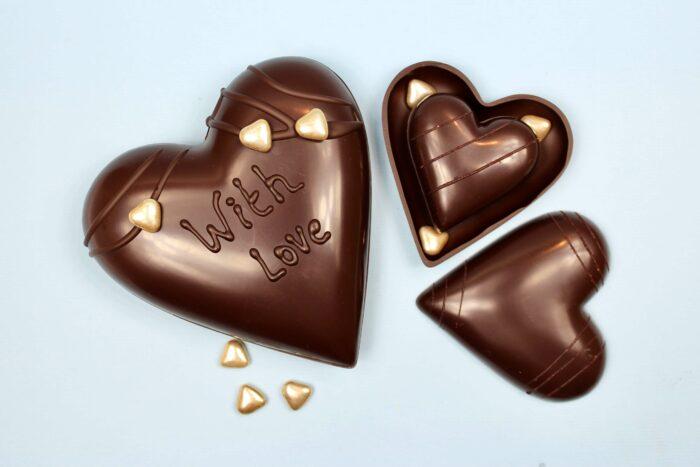 hd ghent matroeska heart dark chocolate valentine 2021 set of tree one in two