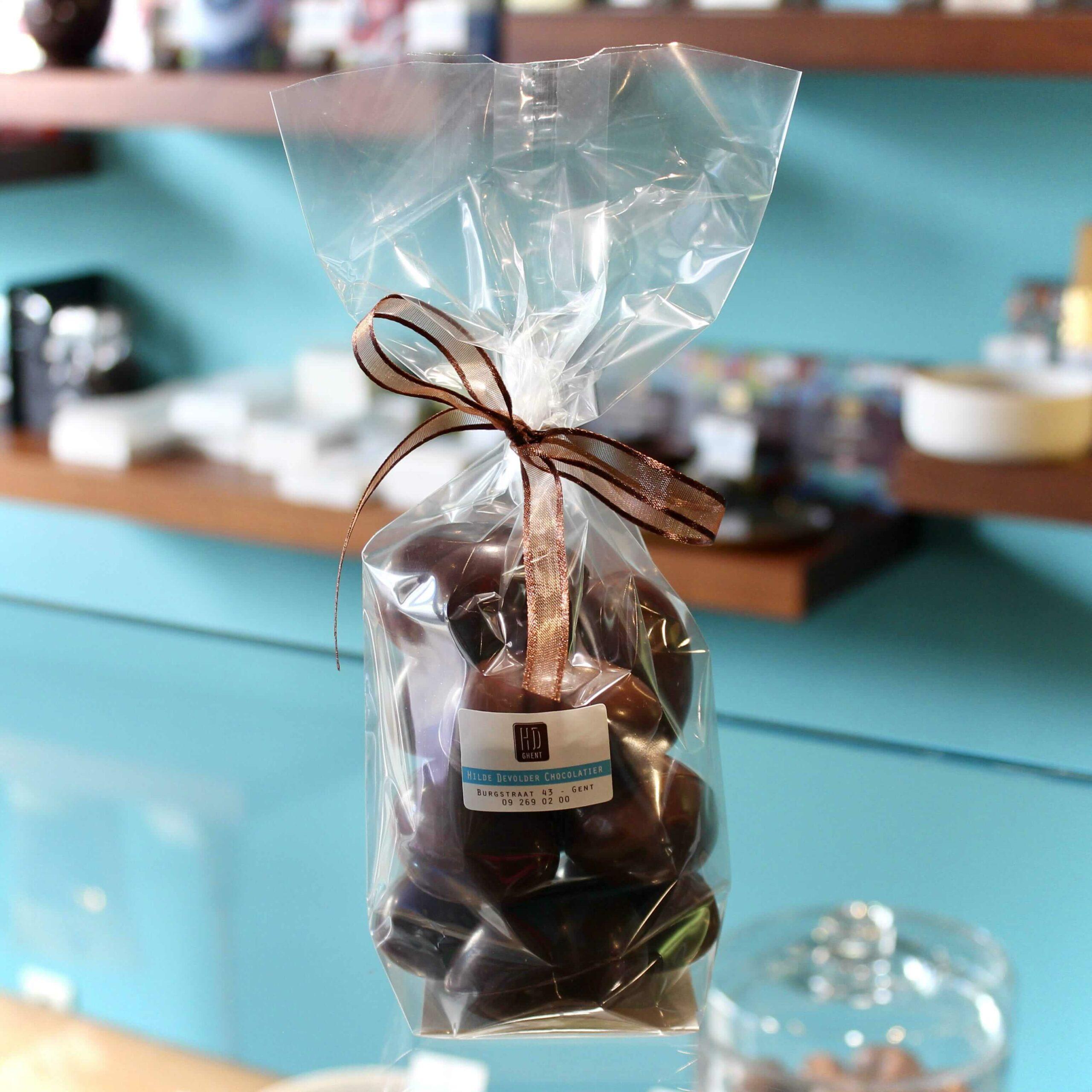 hilde devolder chocolatier easter 2021 hollow easter egg 5 cm dark chocolate