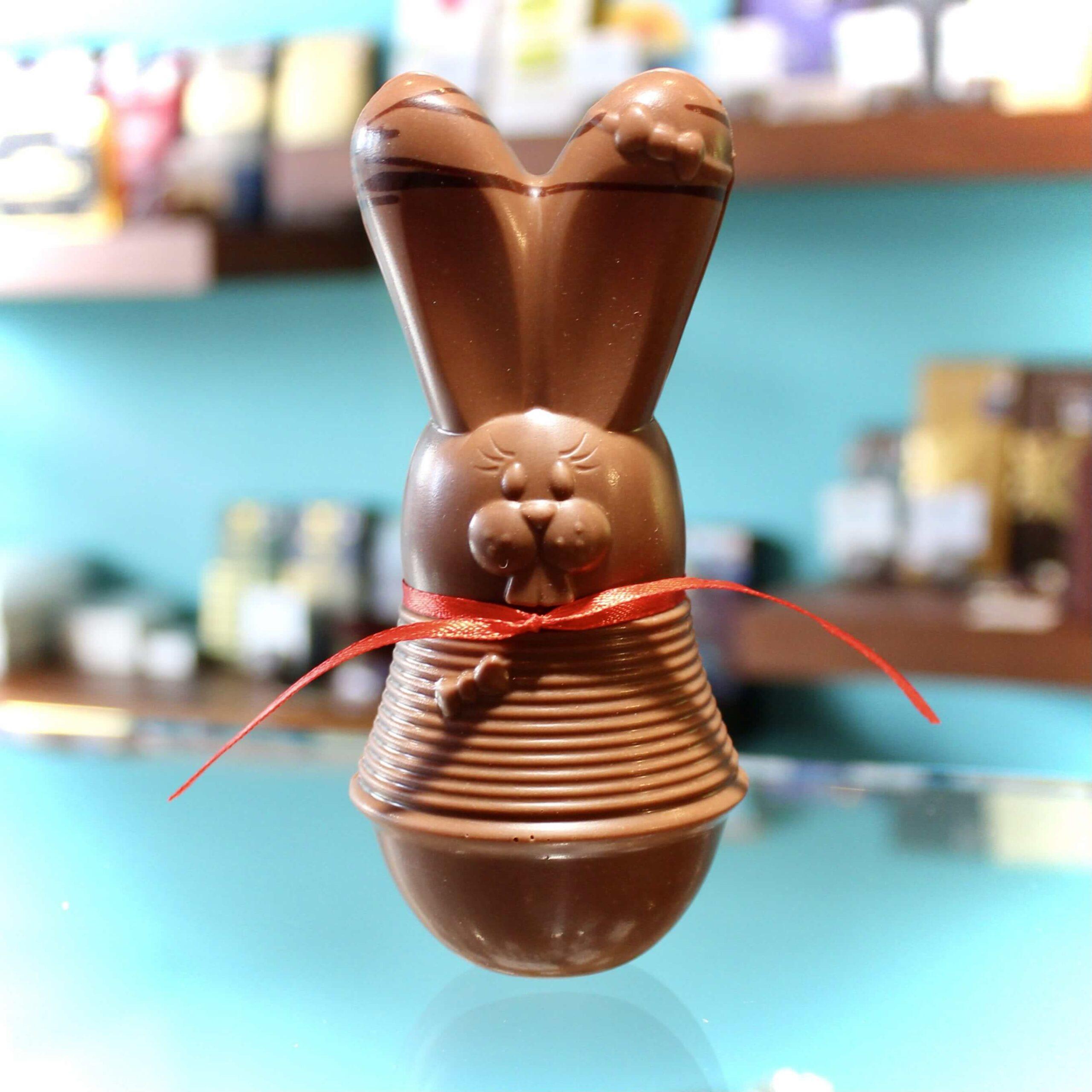 hilde devolder chocolatier easter bunny 14 cm milk chocolate